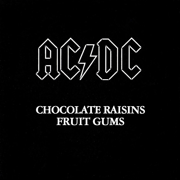 Back in Black by AC/DC tastes like chocolate raisins and fruit gums!