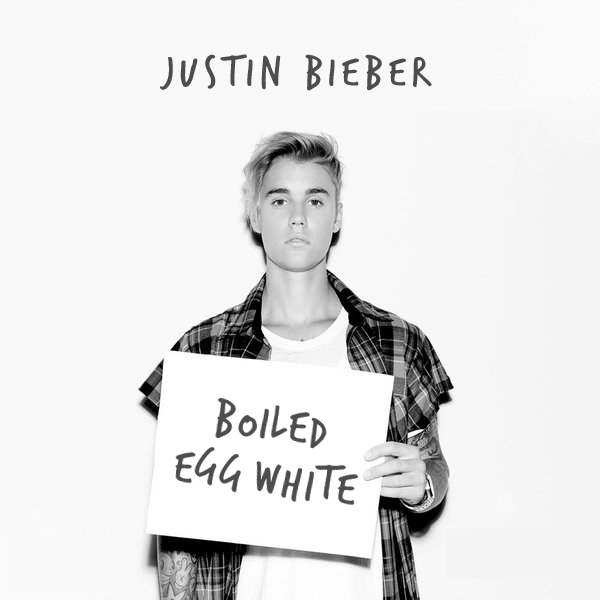Sorry by Justin Bieber tastes like boiled egg white!